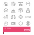 Dog icon set vector image