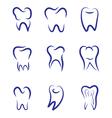 Set modern logo for dentistry Logo for dental vector image