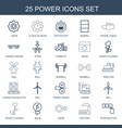 25 power icons vector image vector image