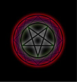 A glowing pentagram vector image vector image