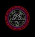 A glowing pentagram vector image vector image