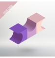 Abstract logo Three colored cube with vector image vector image
