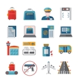 Airport Flat Icons Set vector image