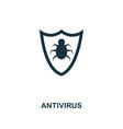 antivirus icon premium style design from security vector image vector image