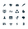art design icons set vector image vector image