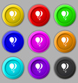 Balloon Icon sign symbol on nine round colourful vector image vector image