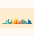 barcelona city travel and tourism background vector image vector image
