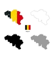 Belgium country black silhouette and with flag on vector image vector image