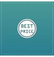 Best Price Icon Badge Label or Sticker vector image vector image