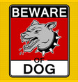 beware of angry dog pop art vector image