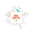 big data concept vector image