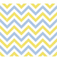 blue and yellow grunge chevron retro pattern vector image