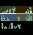 cactus in garden vector image vector image