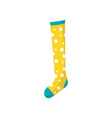 cartoon icon of little children s cotton sock in vector image