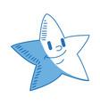 cartoon star smile light night icon vector image vector image