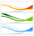 Collection of bright cards for web and print vector image vector image