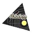 Color vintage astrology emblem vector image vector image