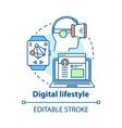 digital lifestyle concept icon virtual reality vector image vector image