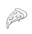 doodle pizza slice vector image