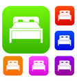 double bed set collection vector image vector image