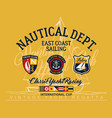 east coast sailing regatta yacht club vector image vector image