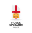 england mobile operator sim card with flag vector image vector image