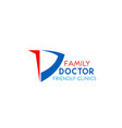family doctor emblem vector image vector image