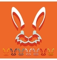 Flat design easter rabbit vector image vector image