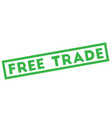 free trade stamp typographic stamp vector image vector image
