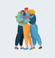 friends and teamwork concept vector image vector image