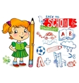 Funny doodles - Back to school vector image vector image