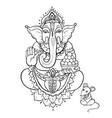 ganapati lord ganesha vector image