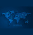 global network connection background vector image