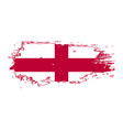 grunge brush stroke with england national flag vector image vector image