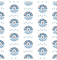 hand drawn greek eyes seamless pattern vector image vector image