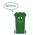 happy recycle bin vector image vector image