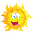 Happy Sun Cartoon Character vector image vector image