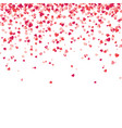 heart confetti valentines womens mothers day vector image vector image