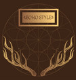 horns elements in style boho contour vector image vector image