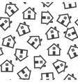 house seamless pattern background icon flat home vector image vector image