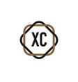 initial letter xc elegance logo design template vector image vector image