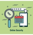 internet shopping security design vector image
