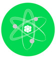 isolated atom icon vector image vector image