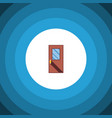 isolated entrance flat icon door element vector image vector image