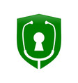 lock doctor protection shield symbol design vector image