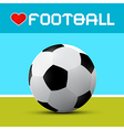 Love Football Theme on Blue and Green Background vector image vector image