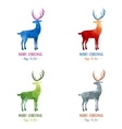 Merry Christmas card decoration with animal Happy vector image