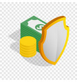 money savings isometric icon vector image vector image