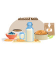 natural almond milk product vector image