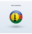 New Caledonia round flag vector image vector image